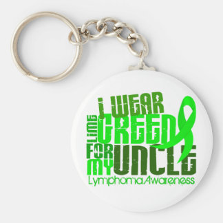I Wear Lime Green For My Uncle 6.4 Lymphoma Keychain