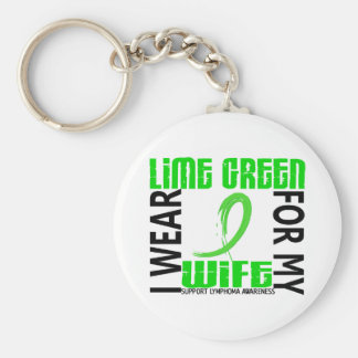 I Wear Lime Green For My Wife 46 Lymphoma Key Chain