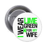 I Wear Lime Green For My Wife Lymphoma 2 Inch Round Button