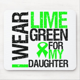 I Wear Lime Green Ribbon For My Daughter Lymphoma Mouse Pad