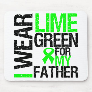 I Wear Lime Green Ribbon For My Father Lymphoma Mouse Pad