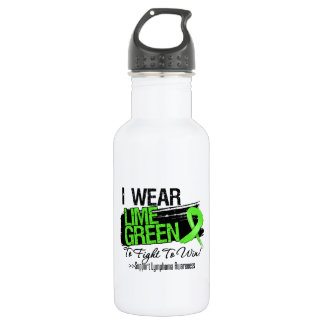 I Wear Lime Green To Fight To Win - Lymphoma 18oz Water Bottle