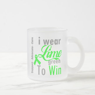I Wear Lime Green To Win - Lymphoma 10 Oz Frosted Glass Coffee Mug