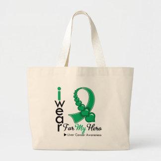 I Wear Liver Cancer Ribbon For My Hero Bag