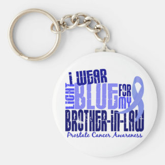 I Wear Lt Blue Brother-In-Law 6.4 Prostate Cancer Basic Round Button Keychain