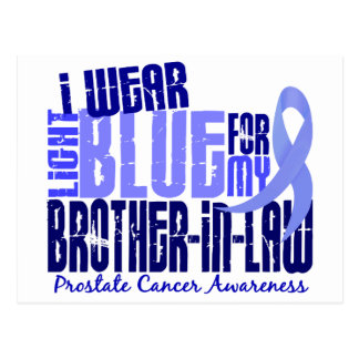 I Wear Lt Blue Brother-In-Law 6.4 Prostate Cancer Postcard