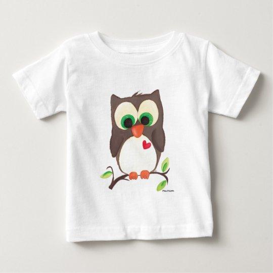 'I wear my heart on my owl' kids tee