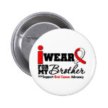 I Wear Oral Cancer Ribbon For My Brother 2 Inch Round Button