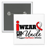 I Wear Oral Cancer Ribbon For My Uncle Pinback Button