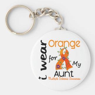 I Wear Orange 43 Aunt MS Multiple Sclerosis Key Chain