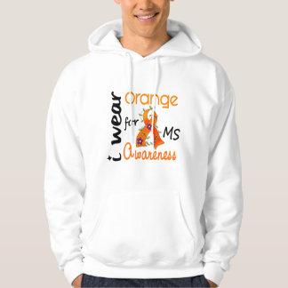 I Wear Orange 43 Awareness MS Multiple Sclerosis Hoodie