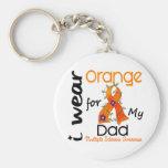 I Wear Orange 43 Dad MS Multiple Sclerosis Basic Round Button Keychain