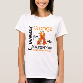 I Wear Orange 43 Daughter-In-Law MS Multiple Scler T-Shirt