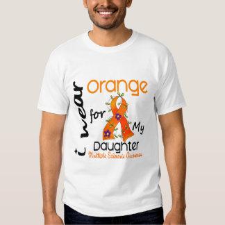 I Wear Orange 43 Daughter MS Multiple Sclerosis Tee Shirt