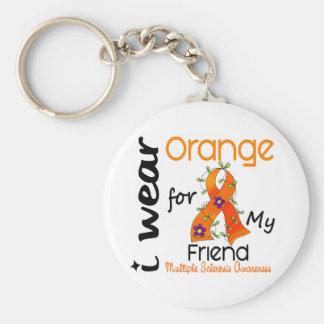 I Wear Orange 43 Friend MS Multiple Sclerosis Keychain