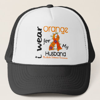 I Wear Orange 43 Husband MS Multiple Sclerosis Trucker Hat