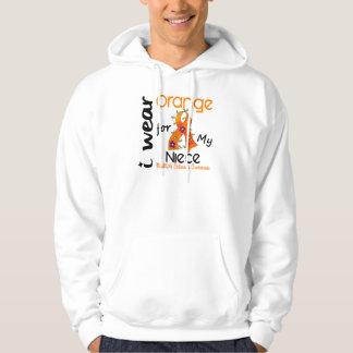 I Wear Orange 43 Niece MS Multiple Sclerosis Hoodie