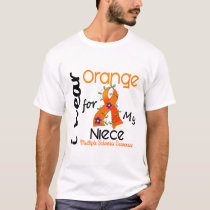 I Wear Orange 43 Niece MS Multiple Sclerosis T-Shirt