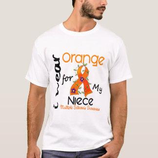 I Wear Orange 43 Niece MS Multiple Sclerosis T-Shirt