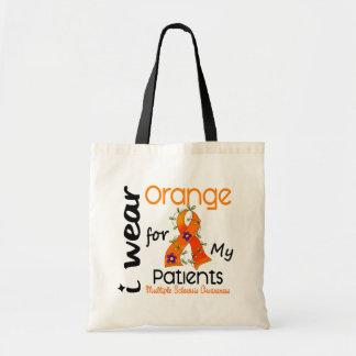I Wear Orange 43 Patients MS Multiple Sclerosis Canvas Bags