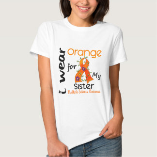 I Wear Orange 43 Sister MS Multiple Sclerosis T Shirt