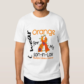 I Wear Orange 43 Son-In-Law MS Multiple Sclerosis Tee Shirt