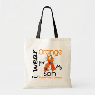 I Wear Orange 43 Son MS Multiple Sclerosis Canvas Bag