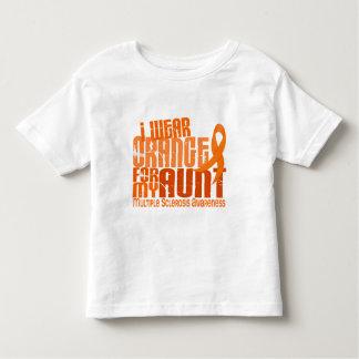 I Wear Orange Aunt Multiple Sclerosis MS Toddler T-shirt