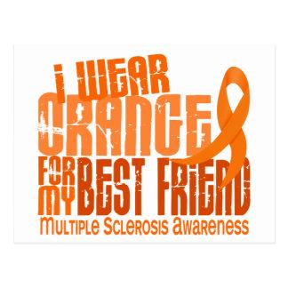 I Wear Orange Best Friend Multiple Sclerosis MS Postcard