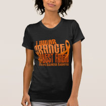 I Wear Orange Best Friend Multiple Sclerosis MS T-Shirt