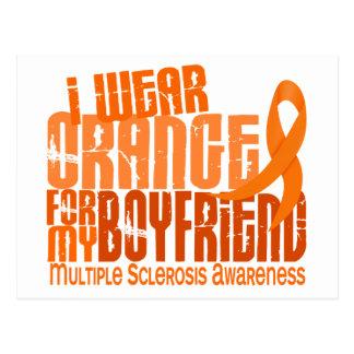 I Wear Orange Boyfriend 6.4 MS Multiple Sclerosis Postcard
