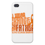 I Wear Orange Father 6.4 Multiple Sclerosis MS iPhone 4/4S Covers