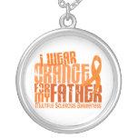 I Wear Orange Father 6.4 Multiple Sclerosis MS Custom Necklace