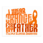 I Wear Orange Father 6.4 Multiple Sclerosis MS Postcard