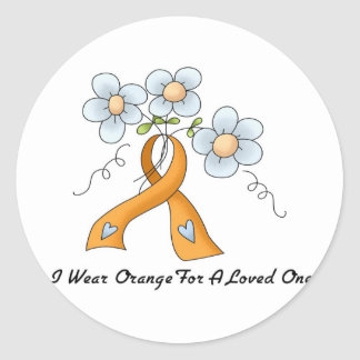 I Wear Orange For A Loved One Classic Round Sticker