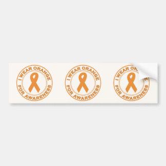 I Wear Orange For Awareness Bumper Stickers