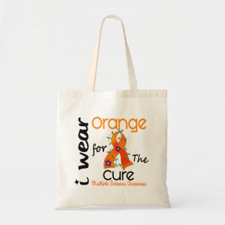 I Wear Orange For Cure 43 MS Multiple Sclerosis Canvas Bags