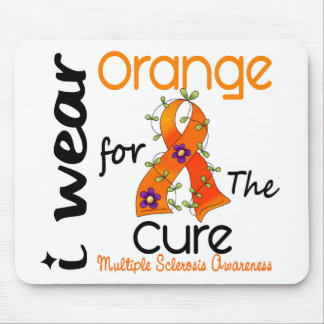 I Wear Orange For Cure 43 MS Multiple Sclerosis Mouse Pad