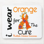 I Wear Orange For Cure 43 MS Multiple Sclerosis Mousepads