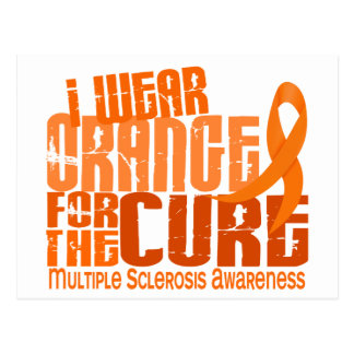 I Wear Orange For Cure 6.4 MS Multiple Sclerosis Postcard