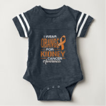 I Wear Orange For Kidney Cancer Awareness Baby Bodysuit