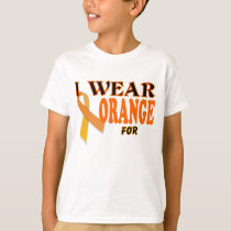 I wear orange for Kidney Cancer awareness Template T-Shirt