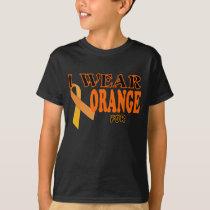 I wear orange for Kidney Cancer awareness Template T-Shirt