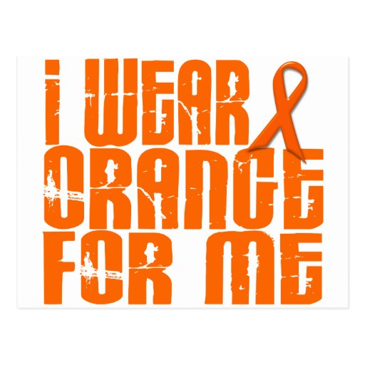 I Wear Orange For Me 16 Postcard