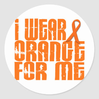 I Wear Orange For Me 16 Classic Round Sticker