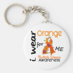 I Wear Orange For Me 43 MS Multiple Sclerosis Basic Round Button Keychain