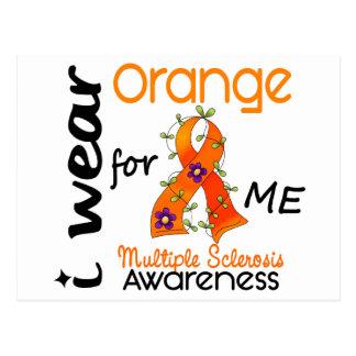I Wear Orange For Me 43 MS Multiple Sclerosis Postcard