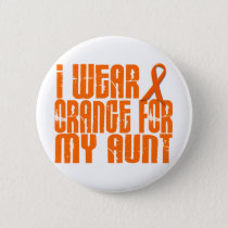I Wear Orange For My Aunt 16 Button