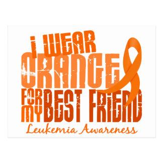 I Wear Orange For My Best Friend 6.4 Leukemia Postcard
