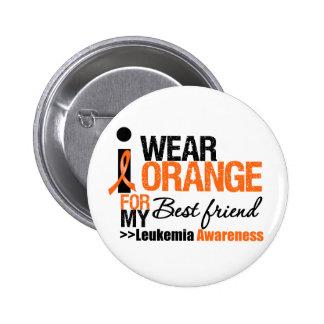 I Wear Orange For My Best Friend Pinback Button